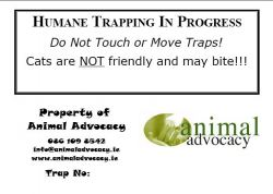 Animal Advocacy Trap ID Label
